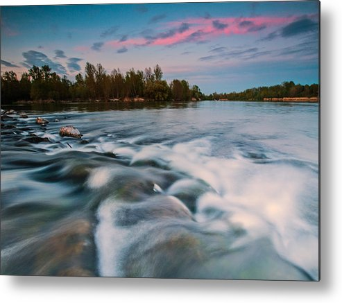 Landscapes Metal Print featuring the photograph Peaceful Evening by Davorin Mance