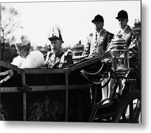 1930s Metal Print featuring the photograph British Royal Family. In Coach British by Everett
