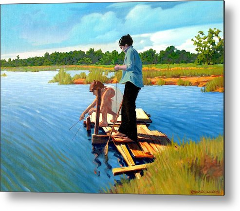 Water Metal Print featuring the painting Bring The Bucket by Kevin Lawrence Leveque