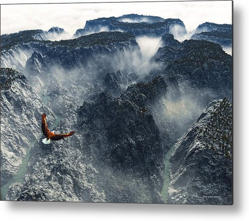 Jim Coe Metal Print featuring the digital art Cloud Canyon by Jim Coe