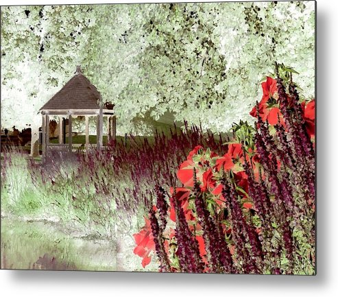 Gazebo Metal Print featuring the photograph Gazebo Scenic by Jim Darnall
