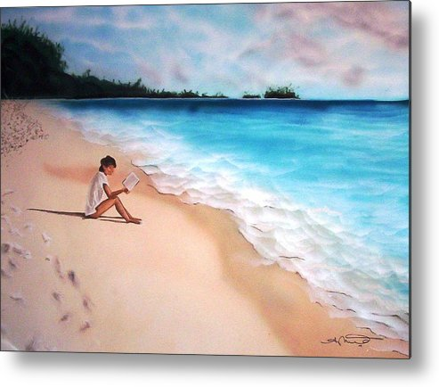 Angela Mustin Metal Print featuring the mixed media Totalsolitude by Angela Mustin