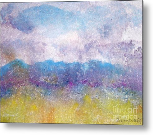 Abstract Metal Print featuring the painting Arizona Impressions by Jan Bennicoff
