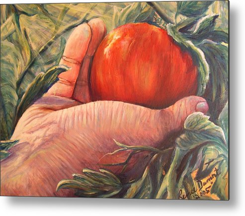 Fruit Metal Print featuring the print Bearing Good Fruit by Renee Dumont Museum Quality Oil Paintings Dumont