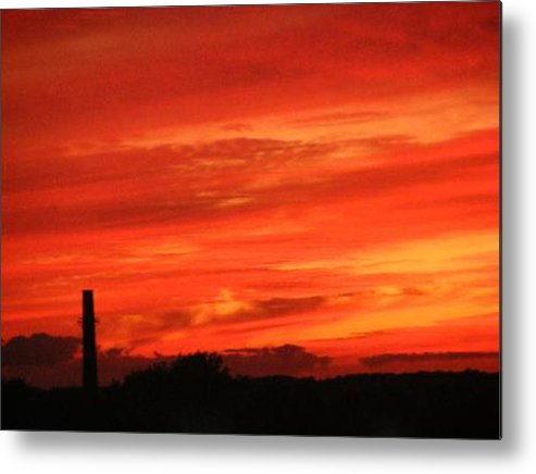 Sky Metal Print featuring the photograph Blood-red Sky by Michelle Hoffmann