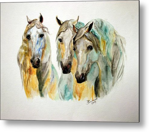 Horses Metal Print featuring the painting Cavalia II by BJ Redmond