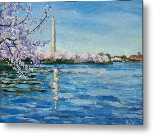 Cherry Blossoms Metal Print featuring the painting Cherry Blossoms by Edward Williams