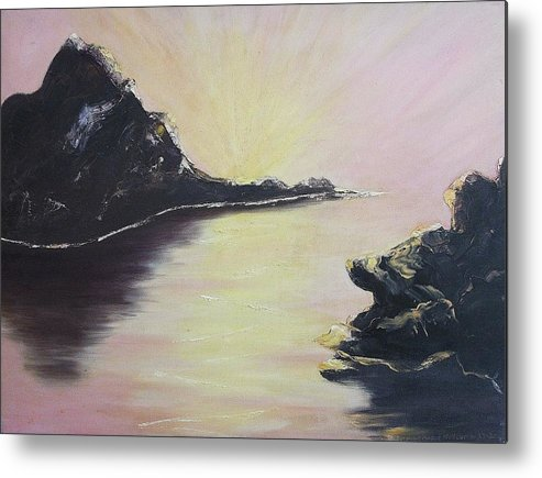 Rocks Metal Print featuring the painting Creation by Suzanne Marie Leclair