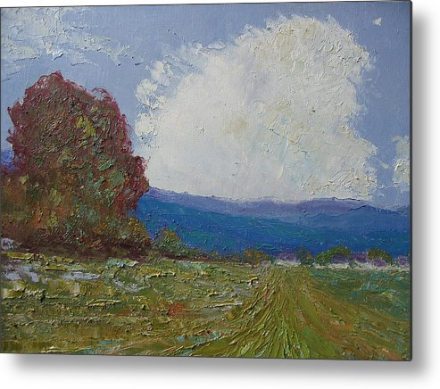 Landscape Metal Print featuring the painting Farmstead by Belinda Consten