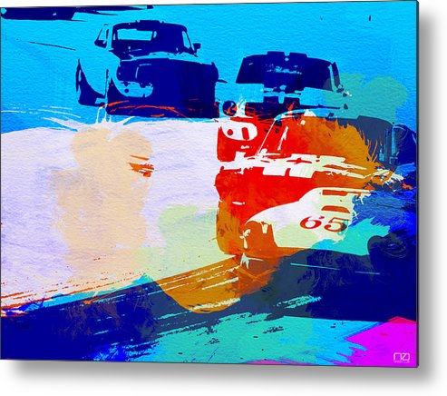 Ford Mustang Metal Print featuring the photograph Ford Mustang Watercolor by Naxart Studio