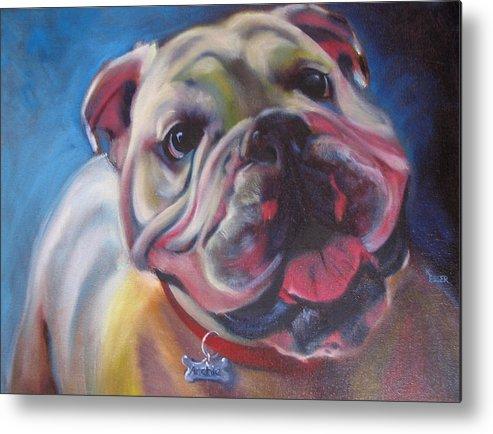 Bulldog Metal Print featuring the painting Georgia Bulldog by Kaytee Esser