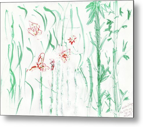 Spring Metal Print featuring the painting Glittering Spring by Golden Dragon