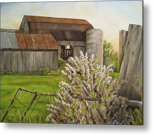 Scenery Metal Print featuring the painting Grand Old Lady Abandoned by Cheryl Bannister