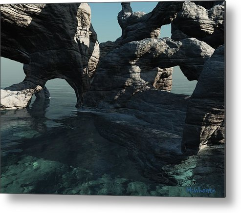 3d Metal Print featuring the painting Grotto by Williem McWhorter