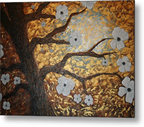 Tree Art Metal Print featuring the painting In Bloom by Amy Parker