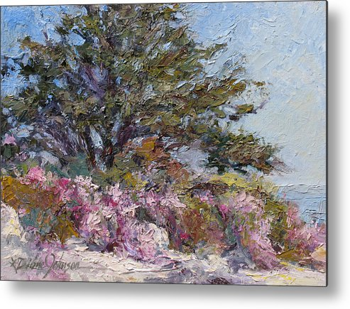 Plein Air Landscape Painting Metal Print featuring the painting In The Pink by L Diane Johnson