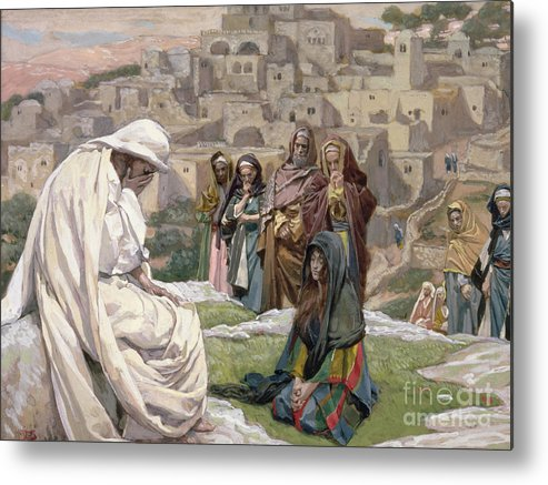 Jesus Metal Print featuring the painting Jesus Wept by Tissot