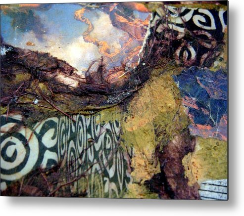 Textures Metal Print featuring the mixed media Journey by Gail Butters Cohen