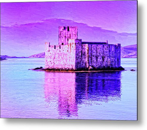 Castle Metal Print featuring the painting Kisimul Castle by Dominic Piperata
