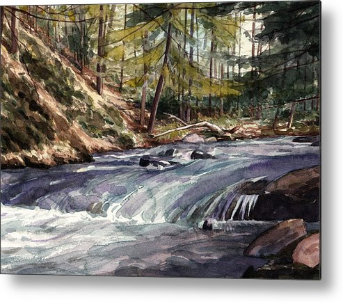 Mountain Stream Metal Print featuring the painting Laurel Run by Jeff Mathison