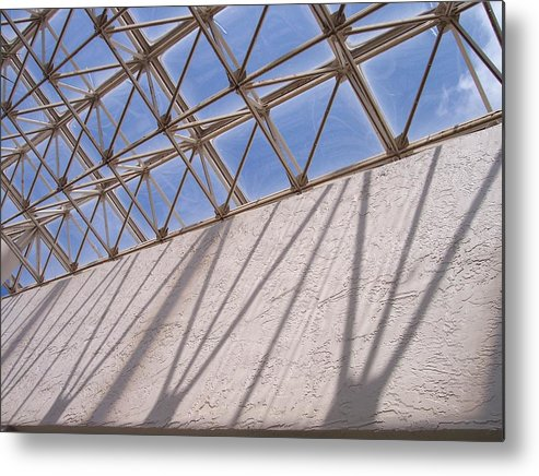Beams Metal Print featuring the photograph Lines And Shadows IIi by Anna Villarreal Garbis
