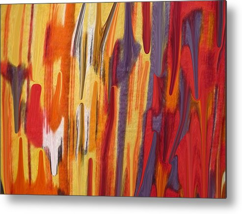 Abstract Metal Print featuring the painting Melting Pot by Florene Welebny