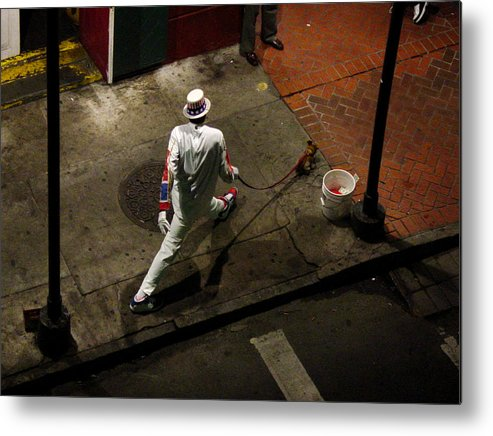 New Orleans Metal Print featuring the photograph New Orleans Shuffle by Linda Kish