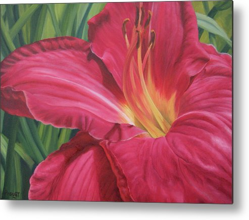Flower Metal Print featuring the painting Northern Lily by Rita-Anne Piquet