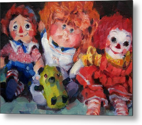 Toys Metal Print featuring the painting Old Friends by Merle Keller