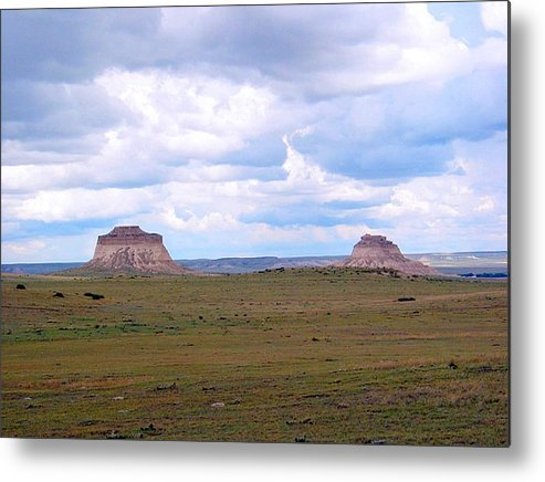 Big Sky Metal Print featuring the photograph Pawnee Butte Colorado by Margaret Fortunato
