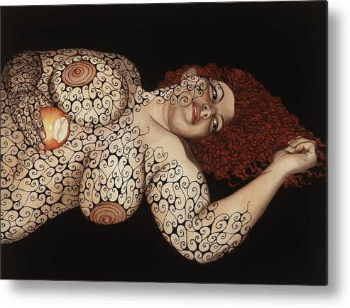 Figurative Metal Print featuring the painting Redemption by Tina Blondell