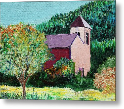 Church Metal Print featuring the painting Ruidoso by Melinda Etzold