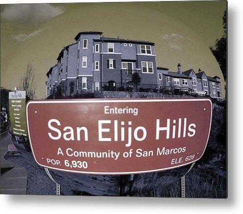San Diego Metal Print featuring the photograph San Elijo Hills by Cassie Ott