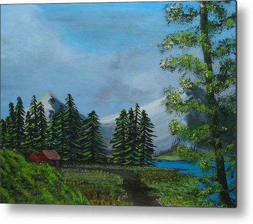 Scenery Metal Print featuring the painting Saskatchewan by Lessandra Grimley