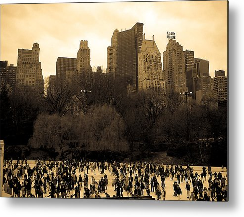 Ice Skating Metal Print featuring the photograph Skating Central At The Park by Joshua Francia