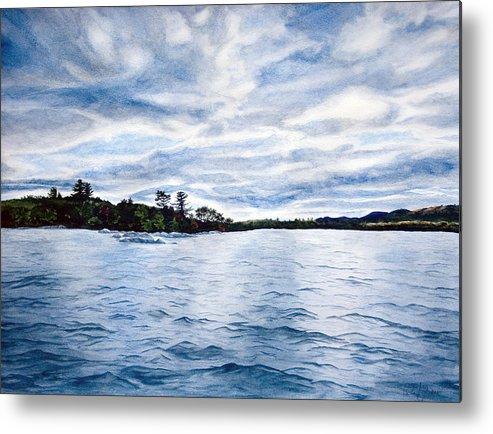 Seascape Metal Print featuring the painting Squam Lake by Monika Degan