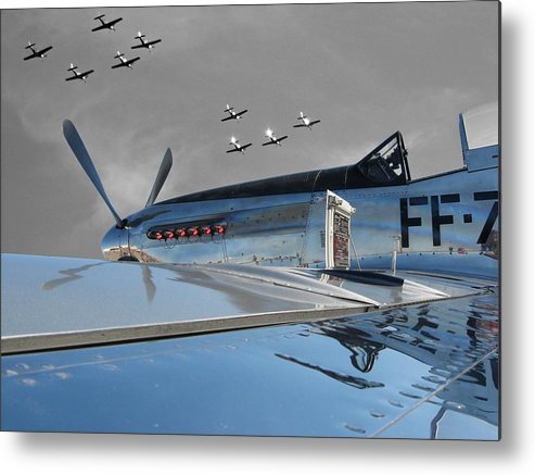 P-51 Metal Print featuring the photograph The Last Flight by Chaz McDowell