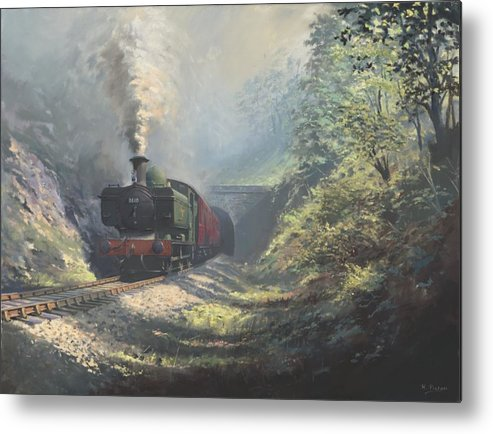 Steam Metal Print featuring the painting The Merthyr Tunnel by Richard Picton