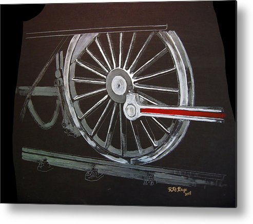 Trains Metal Print featuring the painting Train Wheels 2 by Richard Le Page
