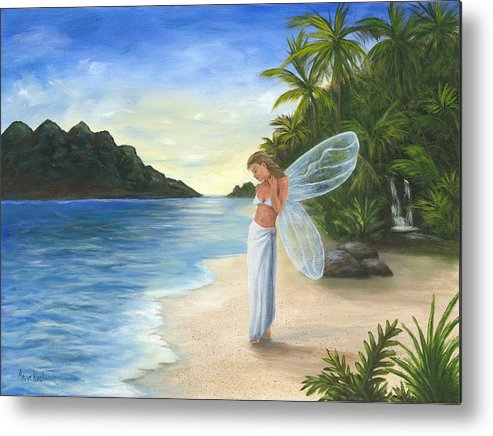 Fairy Metal Print featuring the painting Tropical Fairy by Anne Kushnick