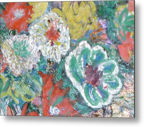 Fun Metal Print featuring the mixed media Up And Taking Nourishment by Anne-Elizabeth Whiteway