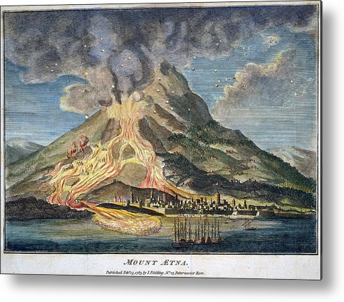 1783 Metal Print featuring the photograph Volcano: Mt. Etna by Granger
