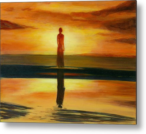 Landscape Metal Print featuring the painting A Personal Journey II by Paula Emery