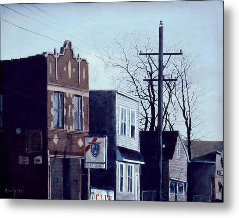 Urban Metal Print featuring the painting Halsted by William Brody