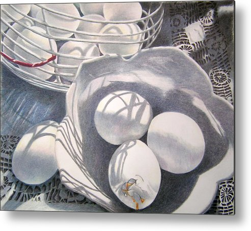 Still Life Metal Print featuring the drawing Oops by Susan Moyer