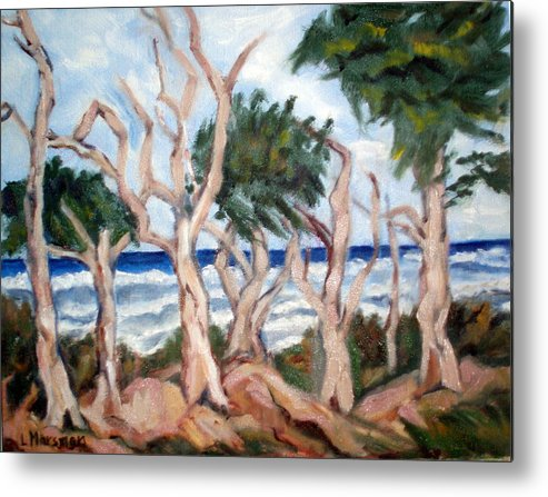 Ocean Metal Print featuring the painting Wild Coast by Lia Marsman