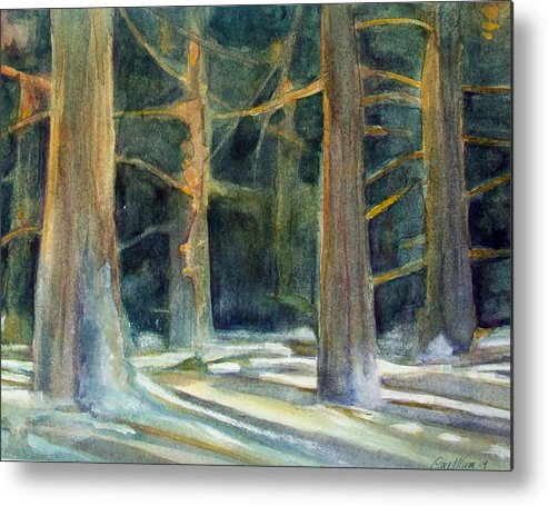 Winter Metal Print featuring the painting Ancient Light by Grace Keown