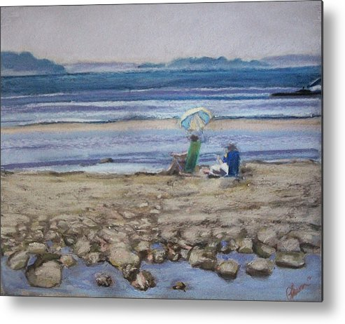 Mid-coast Maine Metal Print featuring the pastel Saltair by Grace Keown