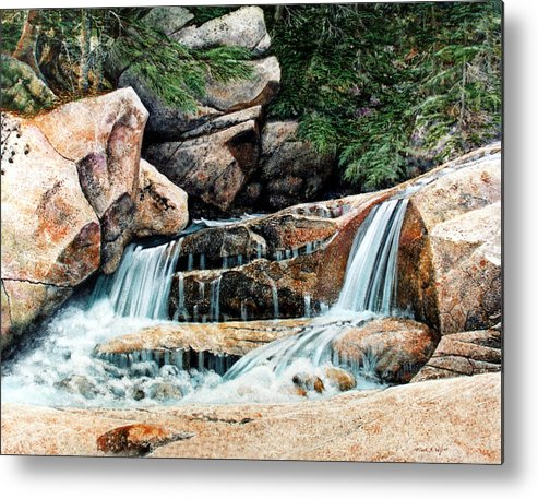 Landscape Metal Print featuring the painting Mountain Stream by Frank Wilson