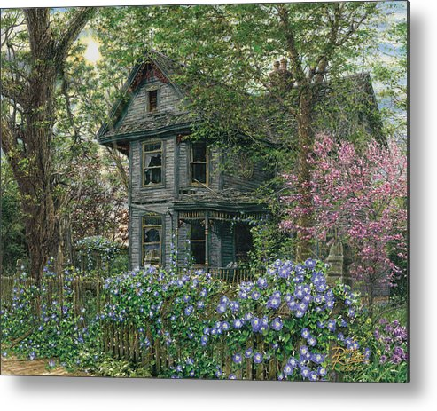 Old House Metal Print featuring the painting Morning Glory by Doug Kreuger